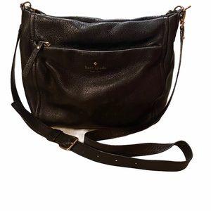Kate Spade Crossbody Bag Black Pebbled Leather
